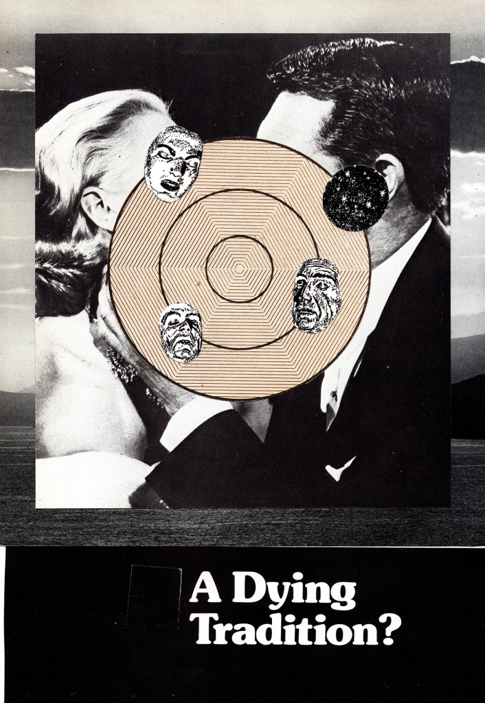 'A dying tradition.' Collage by Matt Reid